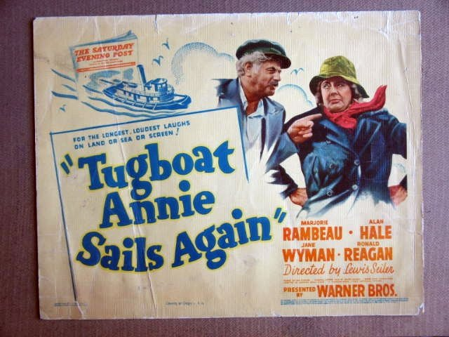 FP43 TUGBOAT ANNIE SAILS Marjorie Rambeau/Alan Hale TITLE LOBBY CARD