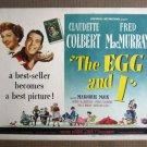 FQ15 Egg & I CLAUDETTE COLBERT 1947 Title Lobby Card