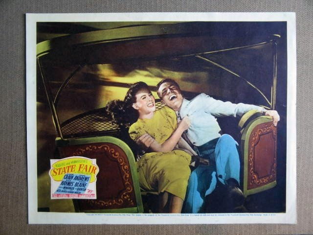 FQ38 State Fair DICK HAYMES/JEANNE CRAIN Lobby Card