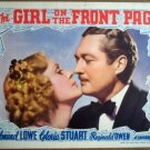 GS17 Girl On Front Page GLORIA STUART 1936 Lobby Card