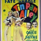 GS02 Tin Pan Alley BETTY GRABLE/A FAYE Mini Window Card