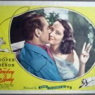 GT12 Cowboy & Lady GARY COOPER/MERLE OBERON Lobby Card