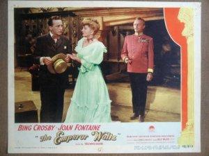 GT15 Emperor Waltz BING CROSBY/JOAN FONTAINE Lobby Card