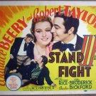 GT36 Stand Up & Fight ROBERT TAYLOR 39 Title Lobby Card