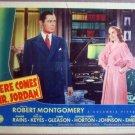 GU18 Here Comes Mr Jordan ROBERT MONTGOMERY Lobby Card