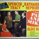 GU23 Pat & Mike KATHARINE HEPBURN/TRACY Lobby Card