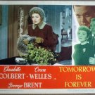 GU34 Tomorrow Is Forever CLAUDETTE COLBERT Lobby Card