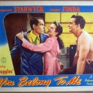 GU37 You Belong To Me FONDA/STANWYCK Lobby Card