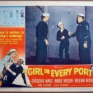 GV07 Girl In Every Port GROUCHO MARX 1952 Lobby Card