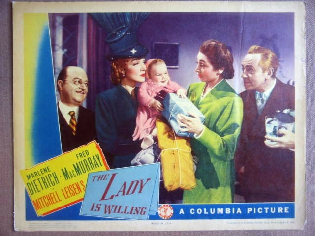 GV17 Lady Is Willing MARLENE DIETRICH Lobby Card