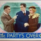 GV24 Party's Over ANN SOTHERN Original 1934 Lobby Card