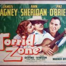 GV36 Torrid Zone JAMES CAGNEY/SHERIDAN Title Lobby Card