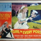 GX09 Girl In Every Port GROUCHO MARX 1952 Lobby Card