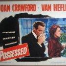 GY26 Possessed JOAN CRAWFORD/HEFLIN Lobby Card