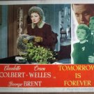 GY39 Tomorrow Is Forever CLAUDETTE COLBERT Lobby Card