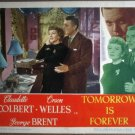 GY40 Tomorrow Is Forever CLAUDETTE COLBERT Lobby Card