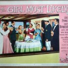 GZ07 Girl Most Likely JANE POWELL 1957  Lobby Card