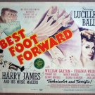 HA03 Best Foot Forward LUCILLE BALL Title Lobby Card