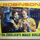 HB22 Dr Ehrlichs Magic Bullet EDW G ROBINSON Lobby Card