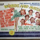 HB27 Words & Music JUDY GARLAND/HORNE Title Lobby Card