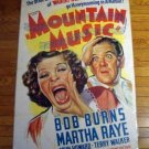 HB30 Mountain Music MARTHA RAYE One Sheet Poster