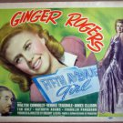HD10 Fifth Ave Girl GINGER ROGERS 1939 Title Lobby Card