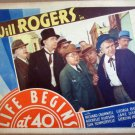 HE10 Life Begins At 40 WILL ROGERS 1935 Lobby Card