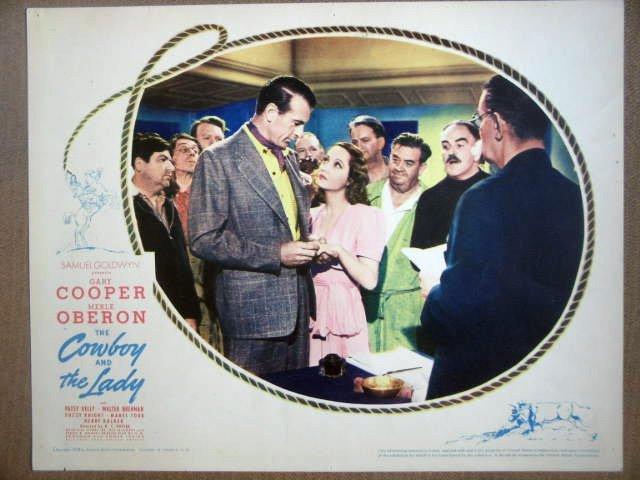 HF06 Cowboy & Lady GARY COOPER/MERLE OBERON  Lobby Card