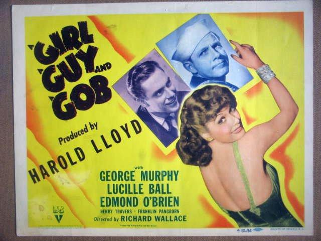 HF13 A Girl, A Guy & Gob LUCILLE BALL Title Lobby Card