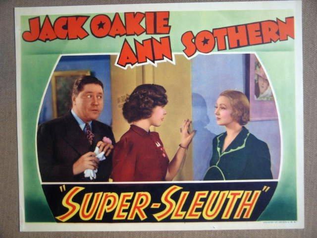 HF32 Super-Sleuth ANN SOTHERN/JACK OAKIE1937 Lobby Card