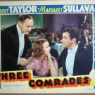 HF34 3 Comrades ROBERT TAYLOR/M SULLAVAN '38 Lobby Card