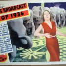 HG07 Big Broadcast 1936 ETHEL MERMAN Lobby Card