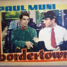 HG09 Bordertown PAUL MUNI Original 1935 Lobby Card