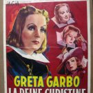 HJ27 Queen Christina GRETA GARBO 1933 Belgian Poster