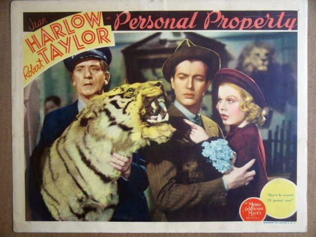 HK18 Personal Property JEAN HARLOW Portrait Lobby Card