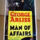 HL07 Man Of Affairs GEORGE ARLIS 1936 Insert Poster