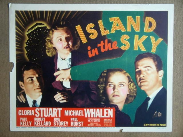 HL12 Island In Sky GLORIA STUART 1938 Title Lobby Card