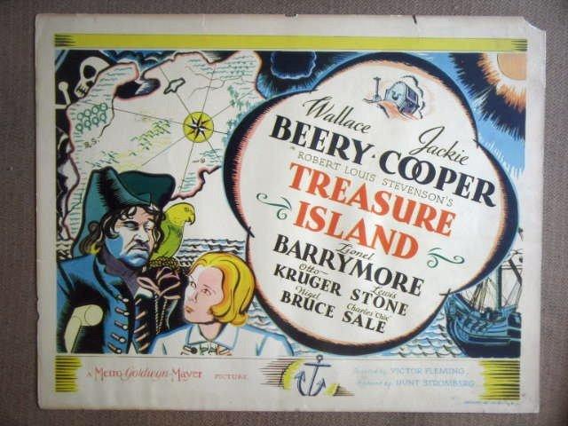 HL22 Treasure Island WALLACE BEERY '34 Title Lobby Card