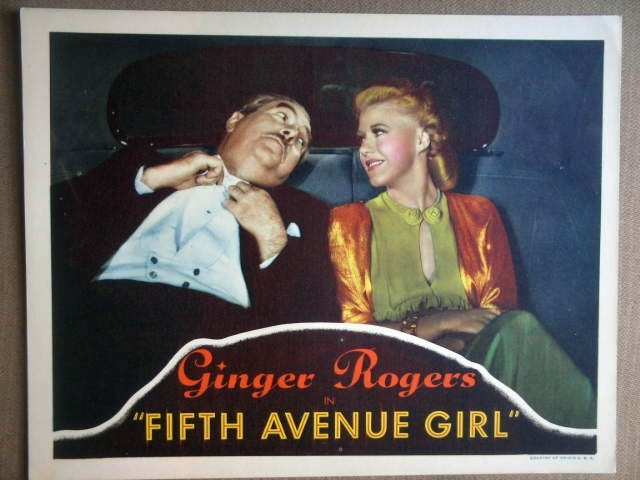 HM17 Fifth Avenue Girl GINGER ROGERS 1939 Lobby Card