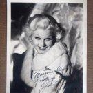 HN19 JEAN HARLOW 1930s Autographed Studio Still