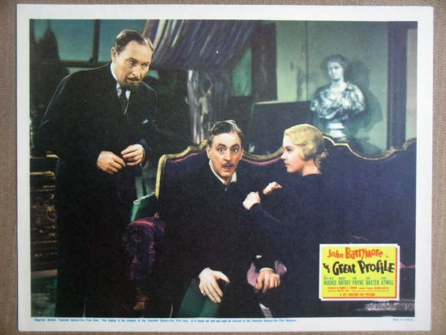 HD12 Great Profile JOHN BARRYMORE 1940 Lobby Card