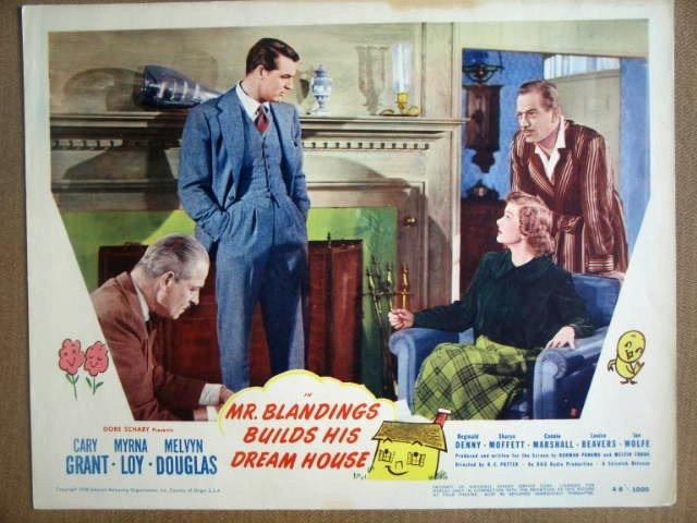 HG18 Mr. Blandings CARY GRANT/MYRNA LOY Lobby Card