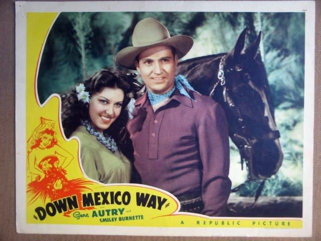 HH10 Down Mexico Way GENE AUTRY '41 Portrait Lobby Card