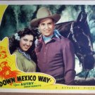 HH10 Down Mexico Way GENE AUTRY '41 Portrait Lobby Card