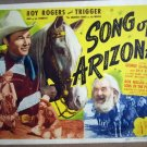 HH31 Song Of Arizona ROY ROGERS/EVANS Title Lobby Card