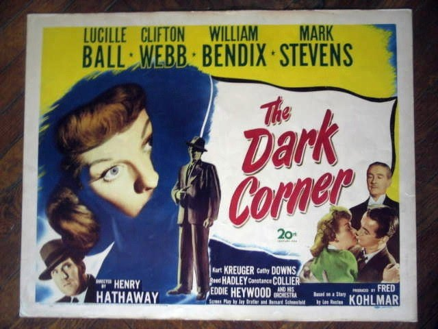 HI26 Dark Corner LUCILLE BALL/WEBB Half-Sheet Poster