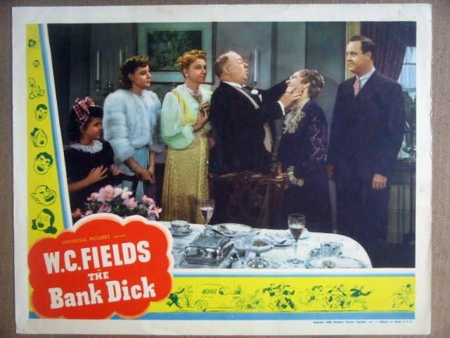 HJ02 Bank Dick W.C. FIELDS Original 1940 Lobby Card