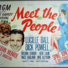 HJ20 Meet The People LUCILLE BALL 1944 Title Lobby Card