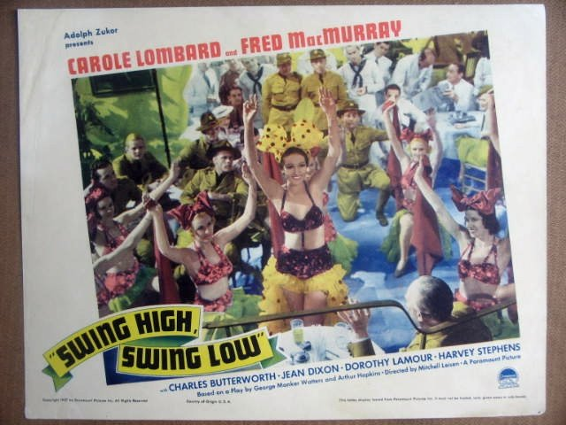 HK23 Swing High Swing Low DOROTHY LAMOUR Lobby Card