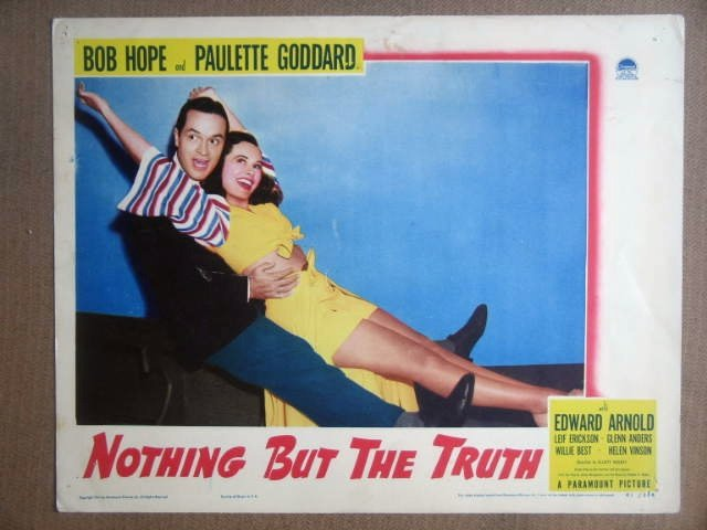 HL17 Nothing But The Truth BOB HOPE/GODDARD Lobby Card